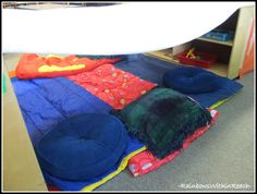 Camping Learning Center in Preschool, Making a 'tent'