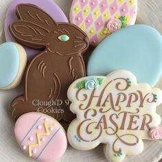A chocolate bunny cookie? Yes, please! #eastercookies #customcookies #decoratedcookies