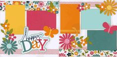 Scrapbook Layout - Happy Day