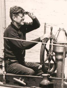 The Prez sailing the coast of Maine, near Boothbay Harbour ~ 11 August 1962  @classiquecom