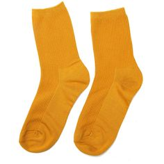 Yoins Mustard Yellow Ribbed Socks (81.475 IDR) ❤ liked on Polyvore featuring intimates, hosiery, socks, yellow, mustard socks, mustard yellow socks, ribbed socks and yellow socks