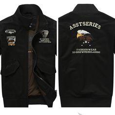 Jacket - Autumn and winter stand collar cotton jacket -  Large size @runit365 #jacket #coat #bomber