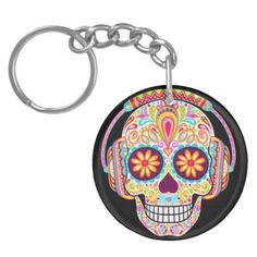 Shop Sugar Skull Keychain (Double-Sided) created by thaneeyamcardle. Personalize it with photos & text or purchase as is! Mexico Day Of The Dead, Funky Design, 3 Shop, Display Design, Party Hats, Sugar Skull, Psychedelic, Original Artwork, Art Pieces