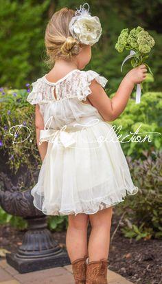 Charlotte Flower Girl Dress in Ivory