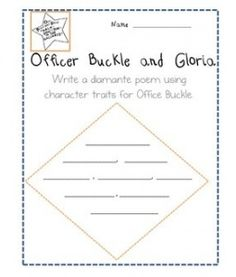 Printables Officer Buckle And Gloria Worksheets 1000 images about l15safety on pinterest officer buckle and gloria freebie teaching character traits