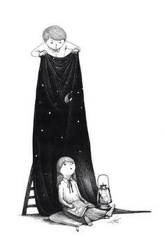 """""""Me pidió espacio y se lo di con todo y estrellas, planetas, cometas y nebulosas de colores."""""""