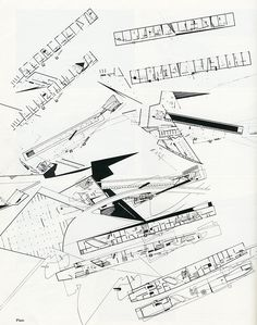 AA Files Zaha Hadid 1983/86  From the Peak project (?) much admired in school in the 80's.