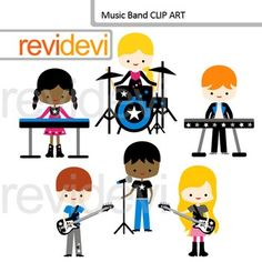 Music clip art featuring kids playing music instruments. Music band clipart set includes 5 cute graphics.Great for music of the month, rockstar, and other music themed projects.Great resource for any school and classroom projects such as for creating bulletin board, printable, worksheet, classroom decor, craft materials, activities and games, and for more educational and fun projects.You will receive:- Each clipart saved separately in PNG format, 300 dpi with transparent background.- Each…