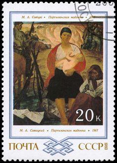 Y en un sello postal, nada menos.