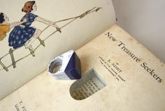 Rings for Women from Recycled Paper Recycling Paper & Books Upcycled Jewelry Ideas