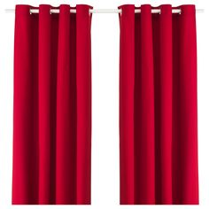 "IKEA - MERETE, Curtains, 1 pair, 57x118 "", , The thick curtains darken the room…"