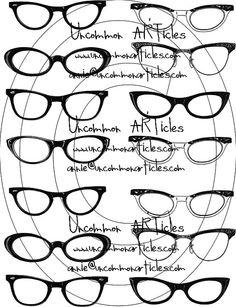 photo booth idea..1950's eye glass frames