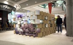 Cool Pop-up Store Made with Carton Boxes 2