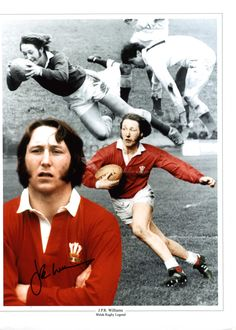 JPR Williams. Welsh Rugby legend.