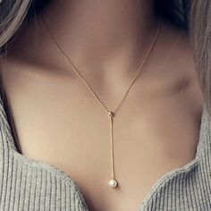 Colares Femininos 2017 Fashion Pearl Necklace for Women Boho Body Chain Simulated Pearl Jewelry Necklace Pendant Collares Mujer