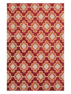 Moroccan Pattern Hand-Hooked Rug by Jaipur Rugs at Gilt