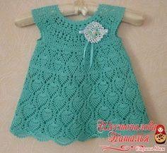 moldes de vestidos a crochet para niña (5)