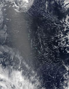Clouds Roll Over Pacific Atolls Areas near the equator are frequently cloudy obscuring the view of Earths surface from space. April 7 2017 was no different. On that day the Moderate Resolution Imaging Spectroradiometer (MODIS) on NASAs Terra satellite captured this natural-color image of clouds over the Gilbert Islands.
