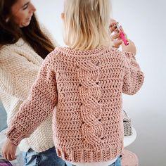 Knitting For Kids, Crochet For Kids, Baby Knitting, Free Crochet, Crochet Jumper, Crochet Trim, Knit Crochet, Baby Sweater Patterns, Crochet Market Bag