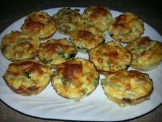 Egg Muffin Cups (no carbs)!  These are great to make and use as protein snacks throughout the day.  Yummy!!