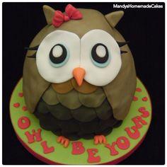 Owl Valentines Cake
