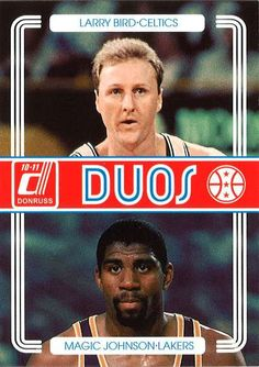 Donruss Duos featuring Larry Bird and Magic Johnson #NBA #Basketball #LarryBird #MagicJohnson #HallOfFame