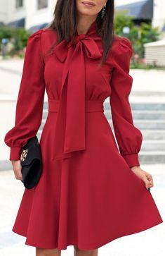 Dress With Bow, Wrap Dress, Official Dresses, Elegant Outfit, Dress Backs, Sequin Dress, Fall Fashion, Fashion Dresses, Neckline