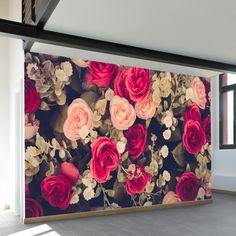 Wallpaper Mural Tricks: How to Choose and Install Mural Floral, Flower Mural, Floral Wall, 3d Wall Decals, Vinyl Wall Art, Of Wallpaper, Peel And Stick Wallpaper, Mural Art, Wall Murals