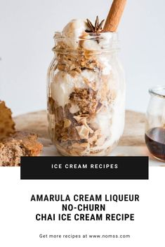 Amarula Cream Liqueur Spiked Chai Spiced Ice Cream Parfait Recipe An easy dessert to enjoy any time. Deliciously decadent sophisticated with a grown-up kick Holiday Desserts, Easy Desserts, Dessert Recipes, Veggie Recipes, Milk Ice Cream, No Churn Ice Cream, Ice Cream Desserts, Ice Cream Recipes, Vancouver Food