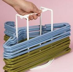 CLOTHES-HANGER-STORAGE-CADDY-Laundry-Room-Clothing-Basket-Hamper ...
