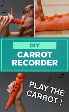 Turn a carrot into a musical instrument with this easy DIY!