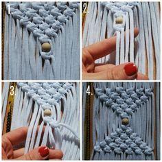 DIY - macrame wandhanger maken - Huis Van Belle Loom Knitting, Merino Wool Blanket, Knots, Diys, Crafts, Ibiza, Craft Ideas, Google, Loom Beading