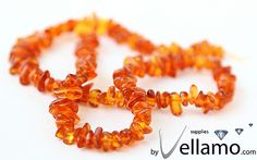 Natural Baltic amber beads chips 415cm strand by byvellamosupplies, $8.50
