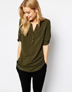 Vero+Moda+Utility+Button+Shirt 20 pounds