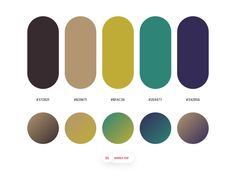 Dopely Colors by Mehdi Khodamoradi on Dribbble Flat Color Palette, Color Palate, Colour Palettes, Color Box, Colour Board, Visual Merchandising Displays, Coloring Tips, Color Theory, Silhouette Design