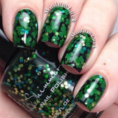 Madame Luck: St Patrick's day mani using KB Shimmer polishes