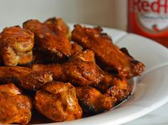 Grilled Chicken Wings with Buffalo Sauce -For the Wings 3 pounds chicken wings     1-1/2 teaspoons kosher salt