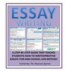 This lesson plan is designed to help HIGH SCHOOL learners write effective essays. If you are a new teacher, or perhaps an experienced teacher looking to update your current unit on essay writing, you will find this unit useful to help prepare/explain the essay writing process to your students.