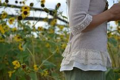 Clothing Refashion -- Embellished Flowered Cardigan {tutorial} -- Tatertots and Jello