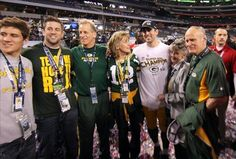 Aaron Rodgers and family at the Superbowl
