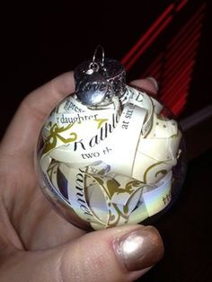 DIY wedding invite ornaments. I think our Mom's need these!