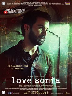 Love Sonia poster, t-shirt, mouse pad Bollywood Posters, Bollywood Cinema, 2018 Movies, Manish, Talk To Me, Entertaining, Love, Movie Posters, Fictional Characters