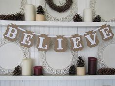 BELIEVE Banner for the Holiday Season by ParamoreArtWorks on Etsy, $15.00