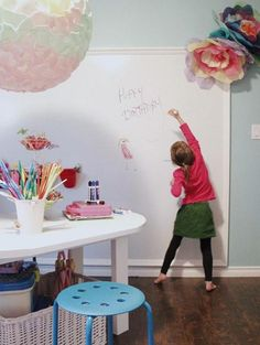 Modern children bedroom decorating and kids playroom ideas for young artists call for bright, fresh and surprising solutions, colorful designs and creative details