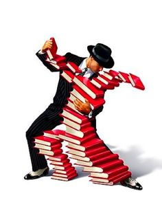 Romance Books? The Reading Dance? Book Boogie? What a fun illustration. #reading #books www.OneMorePress.com
