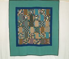 CON PJ2 Amish Checkerboard with Double Borders c1920 - Rocky Mountain Quilts