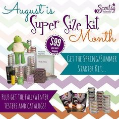 JOIN MY TEAM in AUGUST—Get more bang for your buck! From Aug. 1-31, the new Consultant Starter Kit will include Spring/Summer 2014 testers and catalogs AND Fall/Winter 2014 transition tester sets and catalogs at no additional cost. Transition tester sets are new and returning fragrances, plus any previous Scents of the Month fragrances that move into the Fall/Winter catalog. #DoubleYay #ichooseScentsy #BeYourOwnBoss