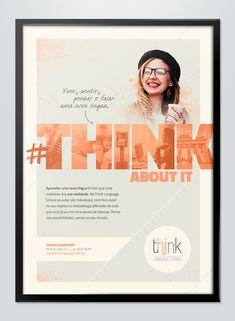Campanha criada para divulgar a escola de línguas Think Language School.