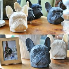 French Bulldog candle