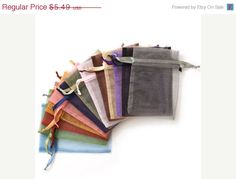 NOW ON SALE Assorted Solid Color Organza Gift by jewelrymandave, $4.67